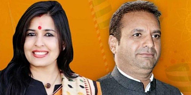 Mayor Somya Gurjar With Husband Rajaram Gurjar