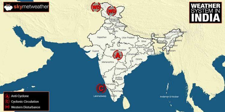 Rajasthan Weather Skymet Map
