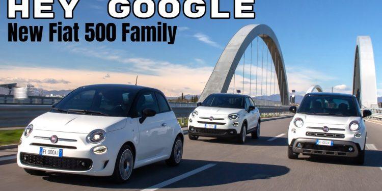 Fiat 500 Family Hey Google Car