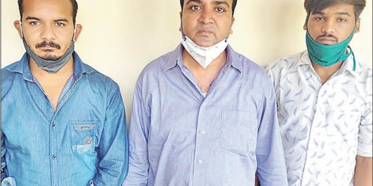 Dr. Amit Kumar Sethi, Abhijeet Sen and Chhotulal Saini were arrested on charges of black marketing Remdesivir injections in Jaipur.