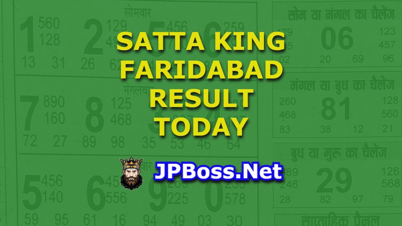 Satta King Faridabad Result Today