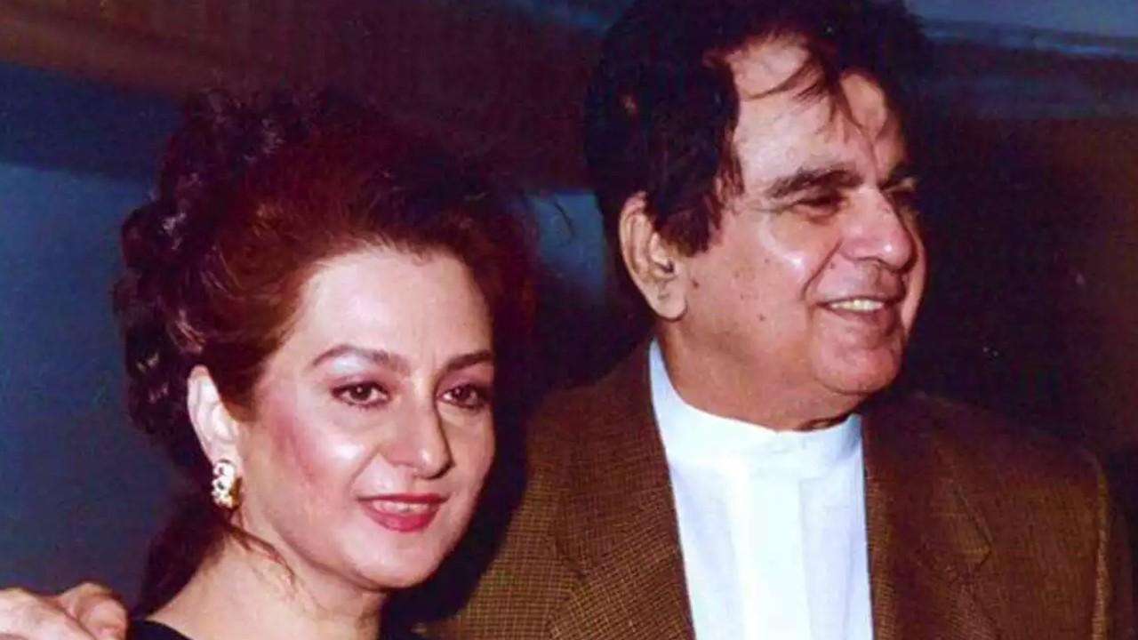 Dilip Kumar with Saira Banu